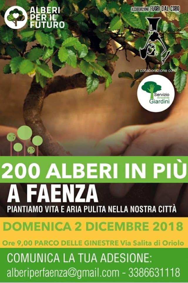 200 alberi in più a faenza