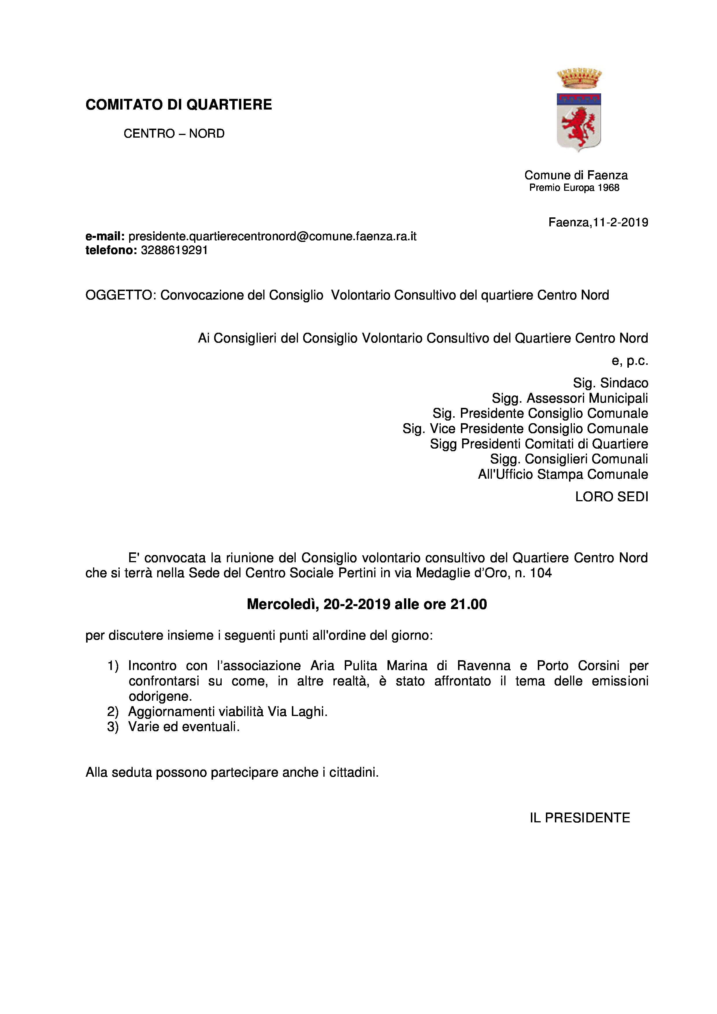 Convocazione Consiglio Quartiere Centro Nord 20-2-19-page-0